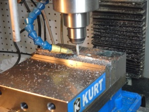 """Mill 1/2"""" blanks to 3/8"""" blank width. This is where we start to work to 0.001 precision levels."""