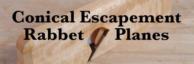 Conical Escapement Rabbet Planes
