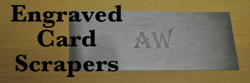 Engraved Card Scrapers